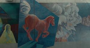 Le mur peint de la gare de Bulle en vidéo