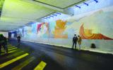Clou rouge- Mur peint de la gare de Bulle